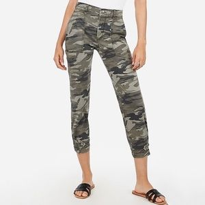 High Waisted Straight Cropped Cinched Hem Pant 10